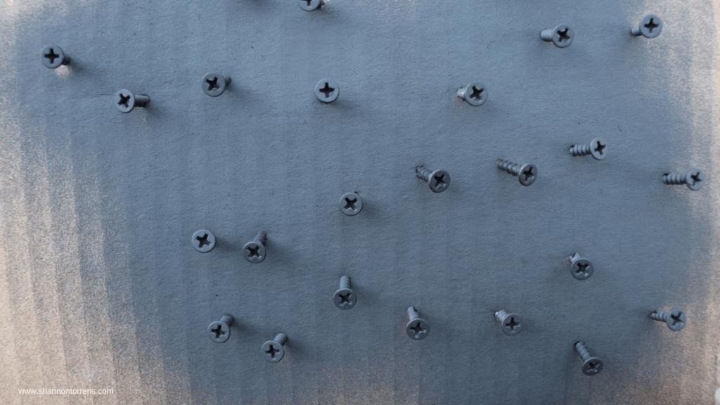 Spray paint screws