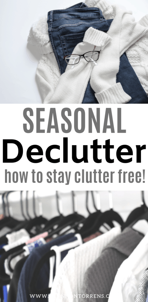 seasonal declutter how to stay clutter free
