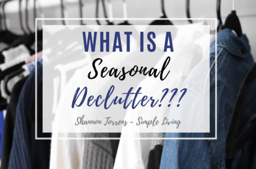 Seasonal Declutter