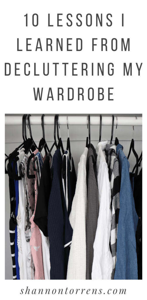10 LESSONS I LEARNED FROM DECLUTTERING MY WARDROBE
