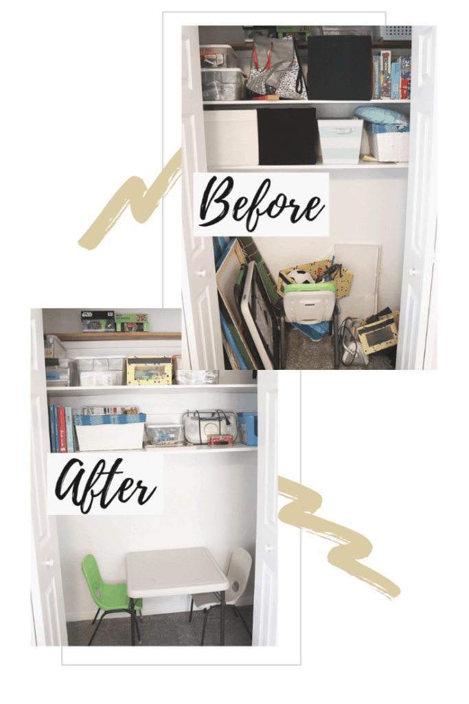 Closet Before and After Organizing