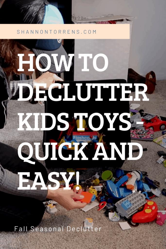 Decluttering Kids Toys - Fall Declutter