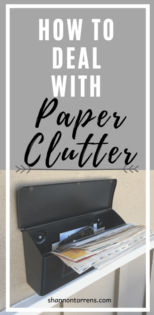 How to Deal with Paper clutter - Family minimalism
