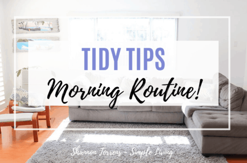 Monring Routine tidy tips as a minimalist family