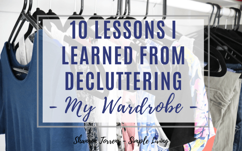 lessons from decluttering my wardrobe