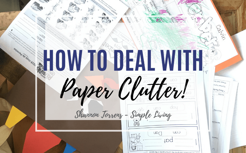 how to deal with paper clutter