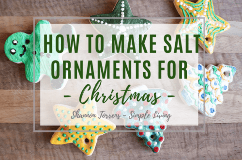 how to make salt ornaments for christmas