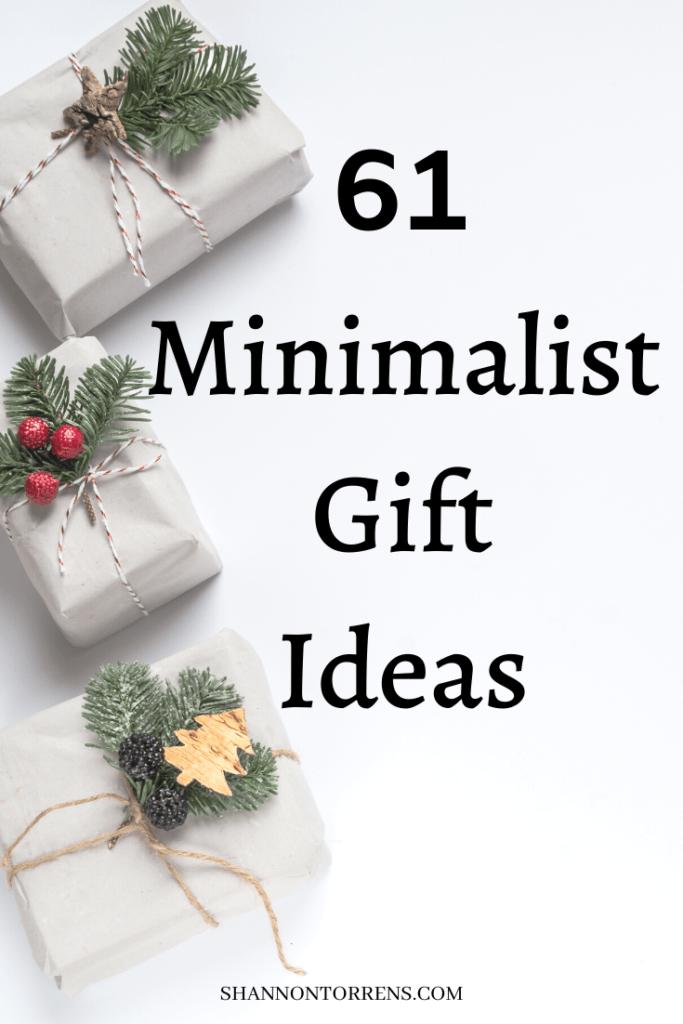 61 Minimalist Gift Ideas