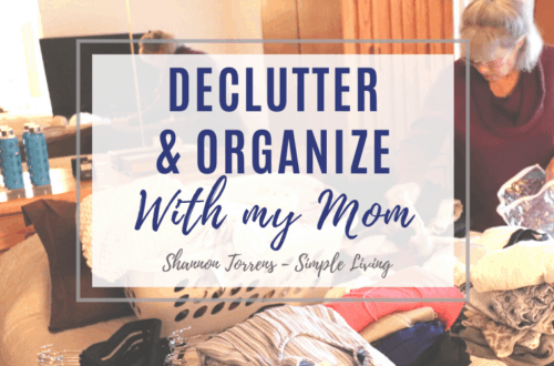 decluttering and organizing with my mom