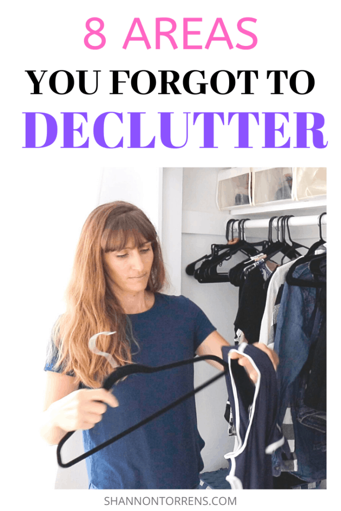 8 Areas you forgot to declutter