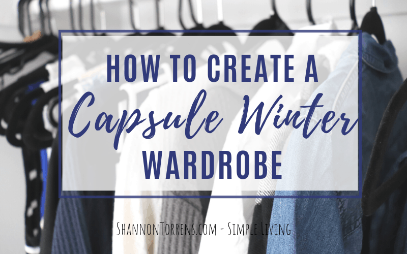 HOW TO MAKE A CAPSULE WINTER WARDROBE