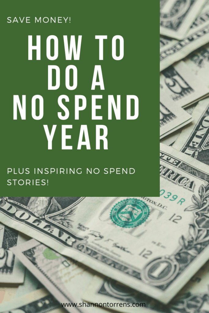How to do a no spend year