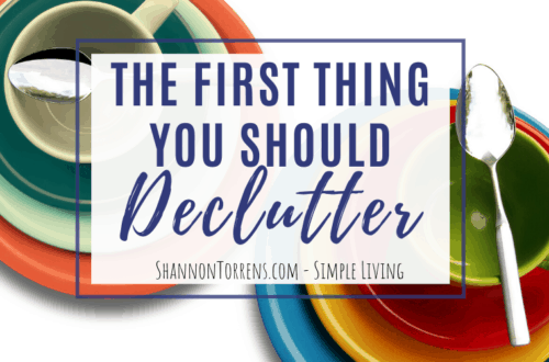 the first thing you should declutter