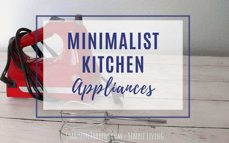 minimalist appliances