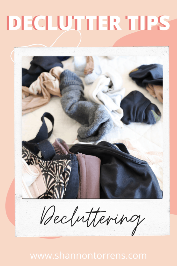 decluttering with mom