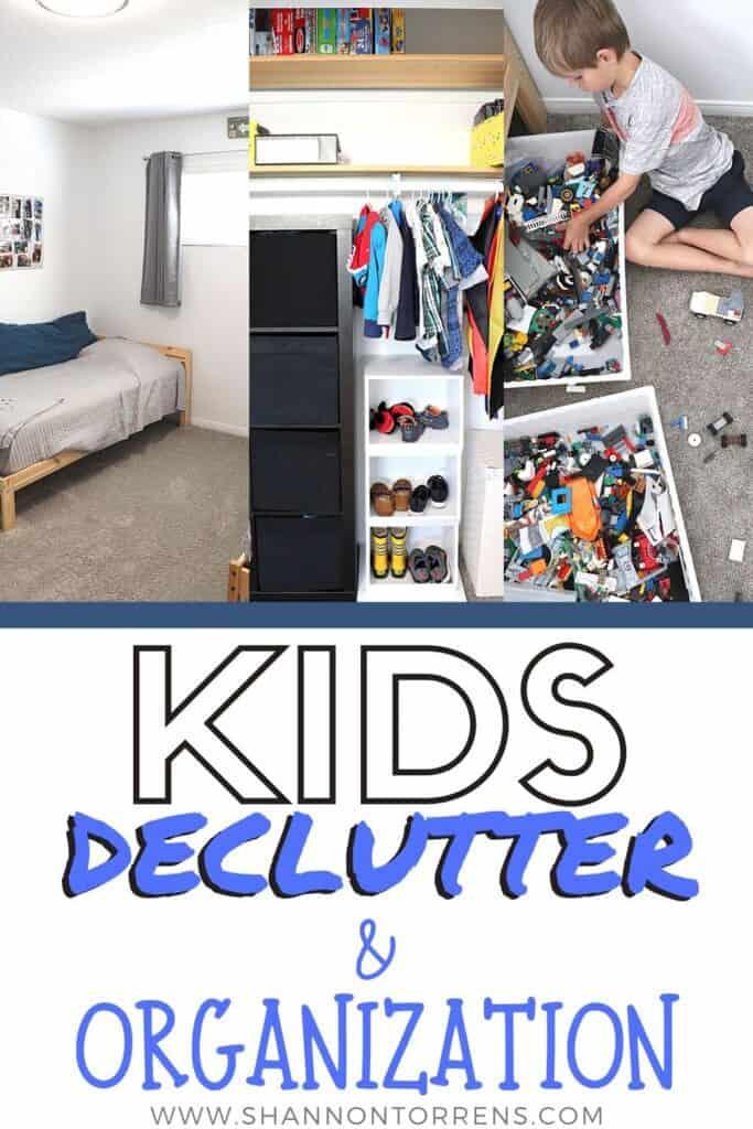 kids declutter and organization minimalism