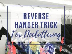 Reverse Hanger Trick Declutter