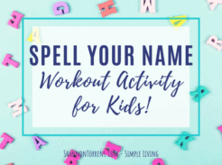 spell your name workout activity for kids