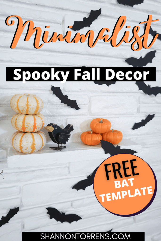 Minimalist Fall decor free bat