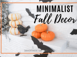 minimalist fall decor