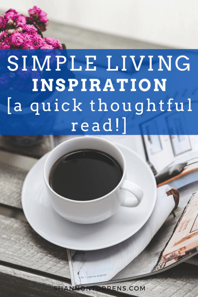 simple living weekend read
