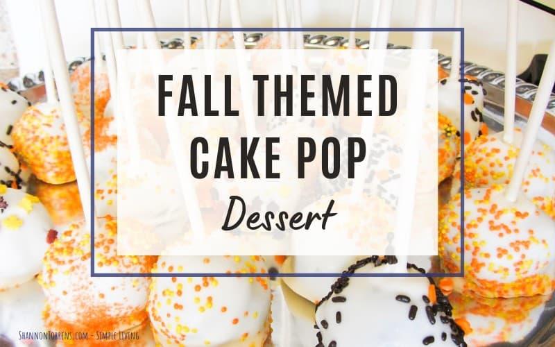 Cake pop dessert