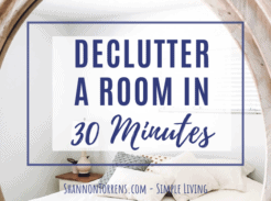 decluttering a room in 30 minutes