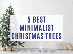 top 5 minimalist Christmas trees