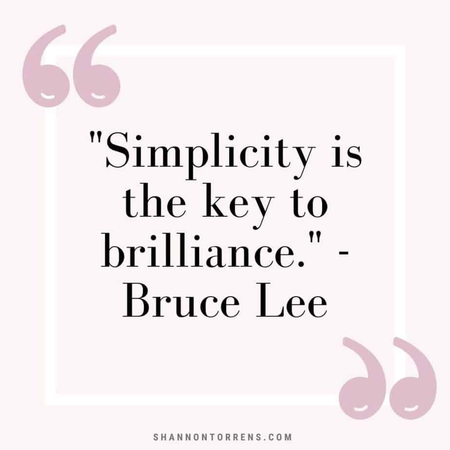 simple living quote