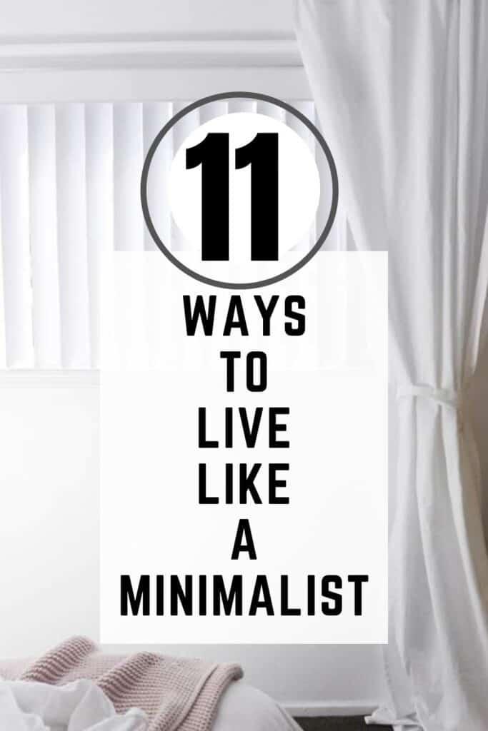 live like a minimalist