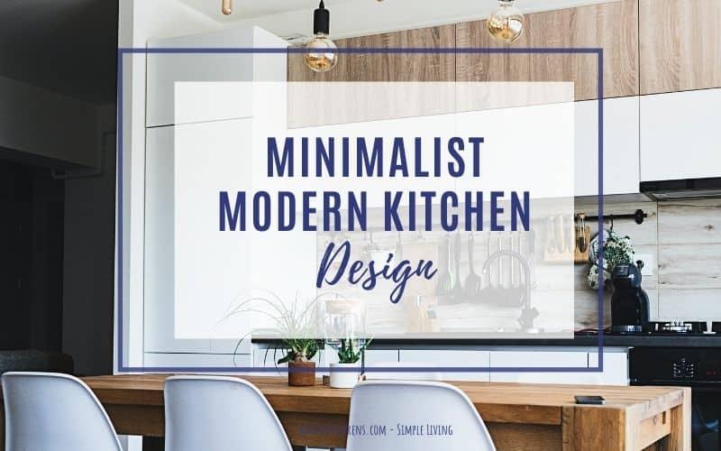 minimal modern kitchen design
