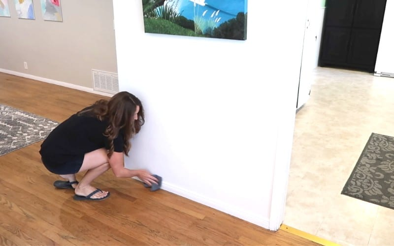 spring clean baseboards