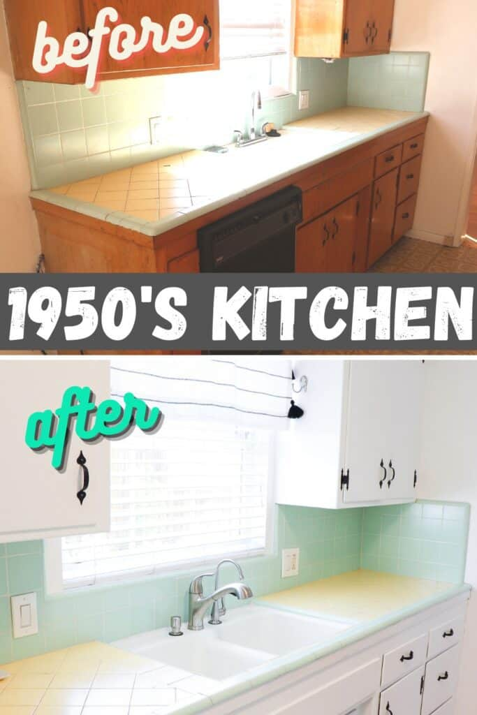 1950s kitchen before and after