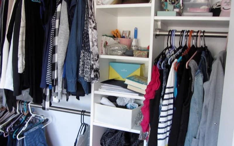 declutter closet before