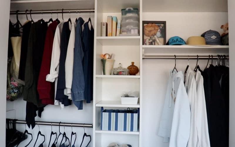 decluttering closet after