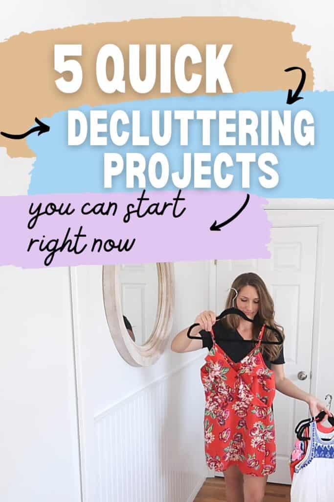 quick decluttering